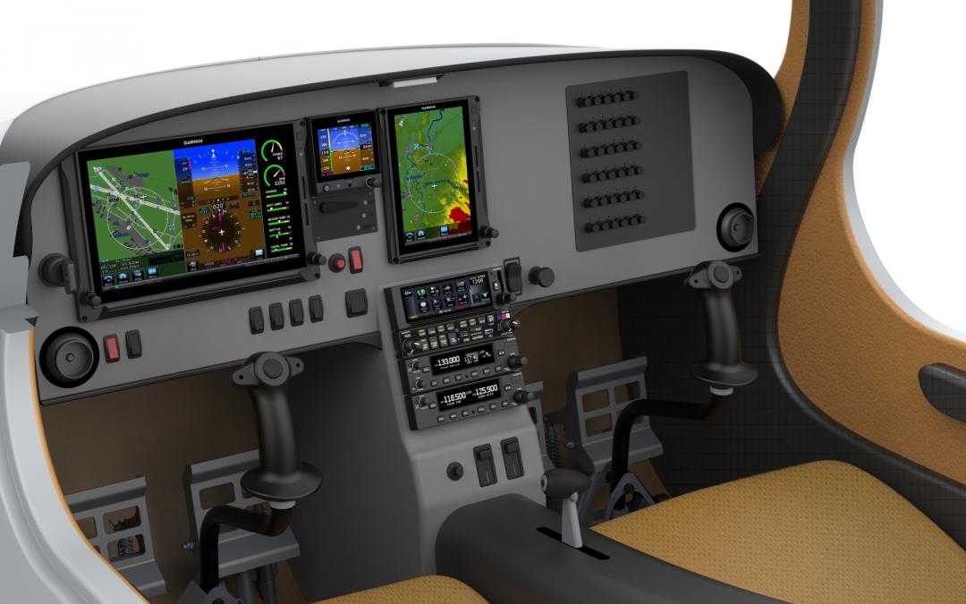 Bye Aerospace to Provide Garmin 500 TXi Avionics on eFlyer 2